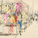 Lucinda Rogers: On Gentrification –  Drawings from Ridley Road Market